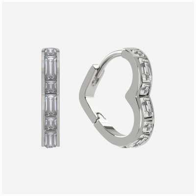 Radley Jewellery Radley Rocks   Sterling Silver Heart Earrings   White Stones RYJ1189S