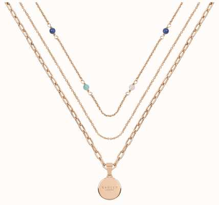 Radley Jewellery Stay Magical Rose-Gold Triple Layered Necklace RYJ2196S
