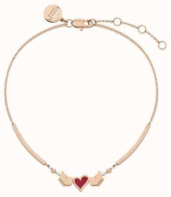 Radley Jewellery Love Letters Yorkie Rose Gold Bracelet RYJ3108S