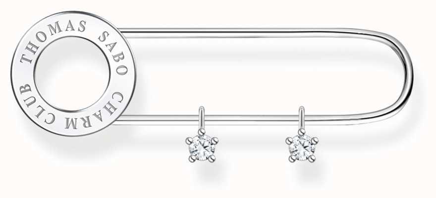 Thomas Sabo Sterling Silver Brooch | Silver Stones X0279-225-14