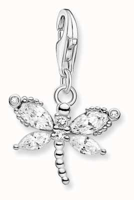 Thomas Sabo Sterling Silver Dragonfly Charm Pendant 1872-051-14