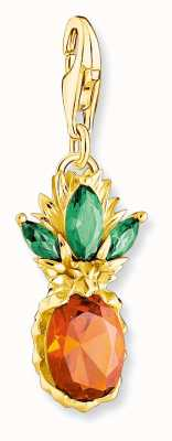 Thomas Sabo Sterling Silver 18K Yellow Gold Plated Pineapple Charm 1879-472-7