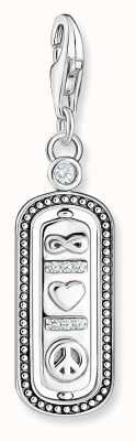 Thomas Sabo Sterling Silver Love & Peace Charm Pendant 1883-643-14