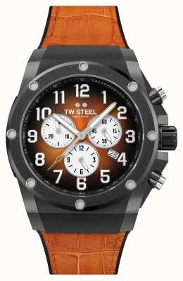 TW Steel Ace Genesis Limited Edition Orange Rubber and Leather Strap ACE133