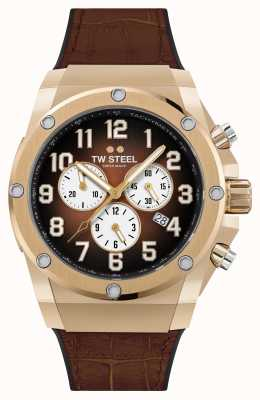 TW Steel Ace Genesis Limited Edition Rubber and Brown Leather Strap ACE132