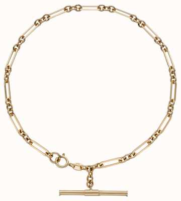 Elements Gold 9ct Yellow Gold T Bar Chain Bracelet GB504