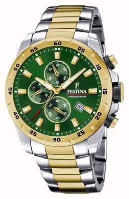 Festina Men's Chronograph Green Dial Watch F20562/3