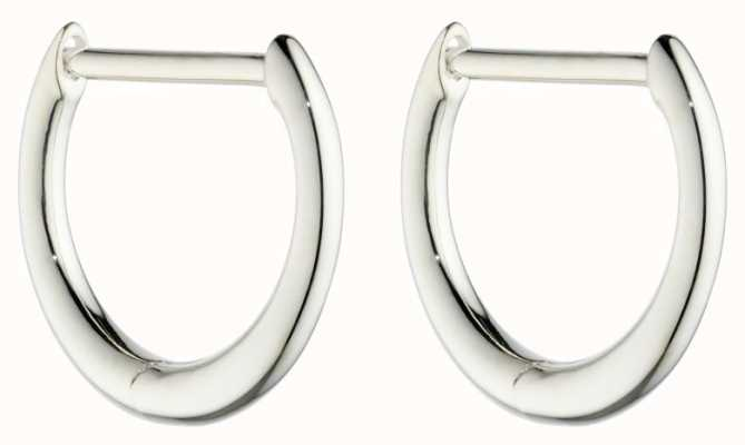 Elements Silver Silver Rounded Click Huggie Hoops E6047