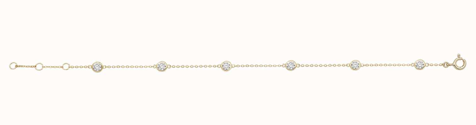 James Moore TH 9ct Yellow Gold Cubic Zirconia Bracelet BR600