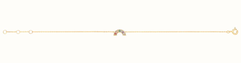 James Moore TH 9ct Yellow Gold Rainbow Bracelet BR658