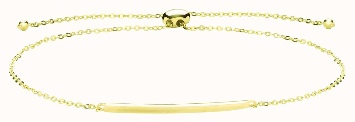 James Moore TH 9ct Yellow Gold Bar Pull Bracelet BR637