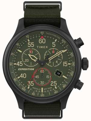 Timex Men's Expedition Field Chronograph Green Dial Watch TW2T72800