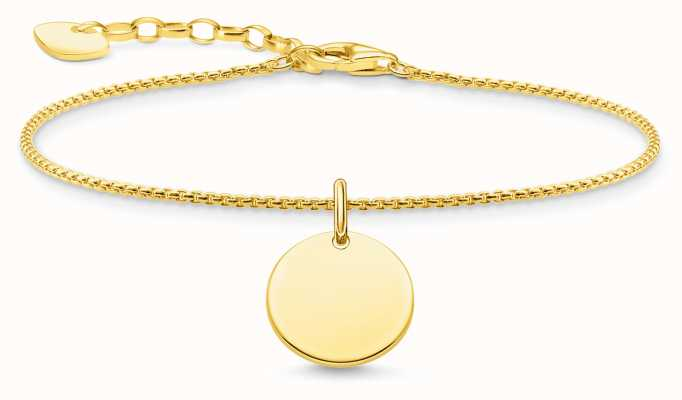 Thomas Sabo Yellow-Gold Plated Sterling Silver Coin Charm Bracelet A1960-413-39-L19V