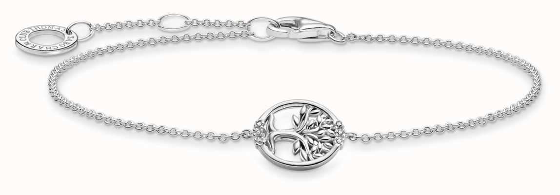 Thomas Sabo Tree of Love Cubic Zirconia Silver Bracelet A2041-051-14-L19V