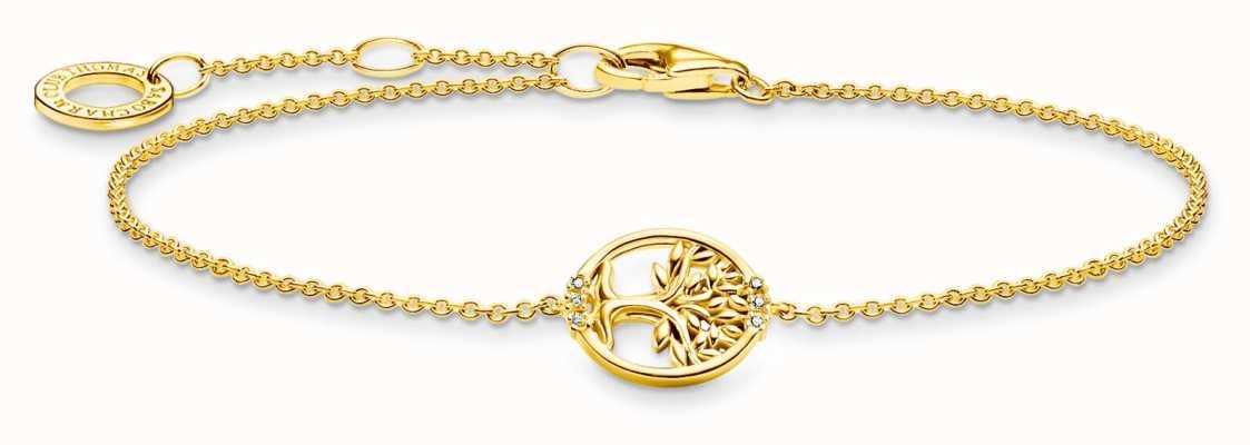 Thomas Sabo Tree of Love Cubic Zirconia Gold Bracelet A2041-414-14-L19V