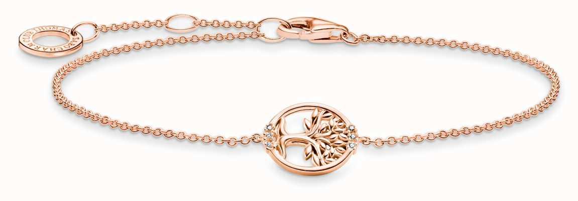Thomas Sabo Tree of Love Cubic Zirconia Rose Gold Bracelet A2041-416-14-L19V