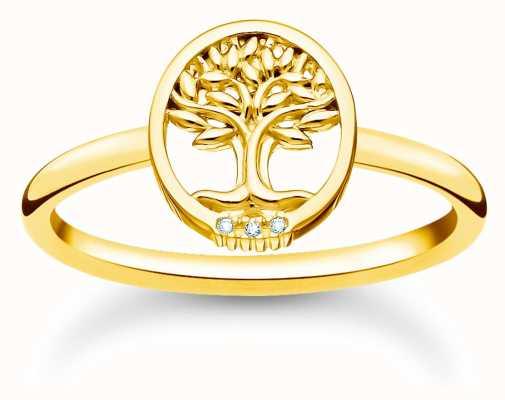 Thomas Sabo Tree of Love Cubic Zirconia Gold Ring TR2375-414-14-54