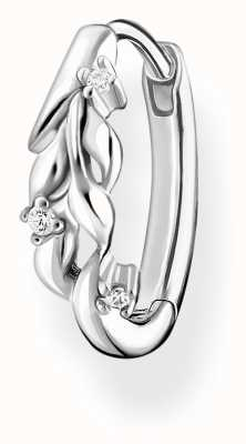 Thomas Sabo Leaves White Stone Silver Single Hoop CR681-051-14