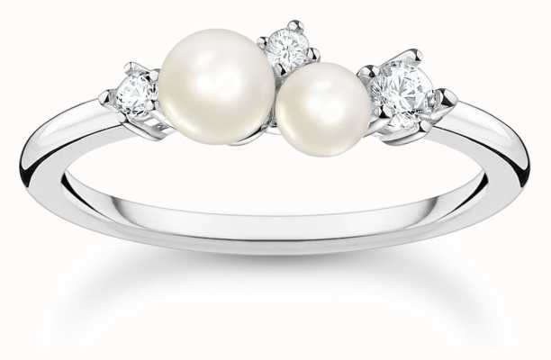Thomas Sabo Pearl Cubic Zirconia Sterling Silver Ring TR2368-167-14-54