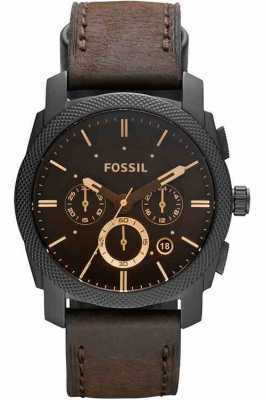 Fossil Mens Machine Chronograph Brown Watch FS4656