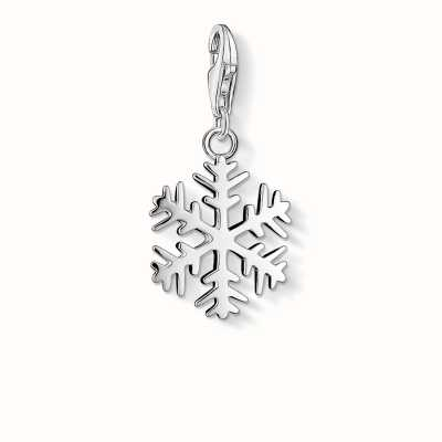Thomas Sabo Snow Crystal Charm 925 Sterling Silver 0281-001-12