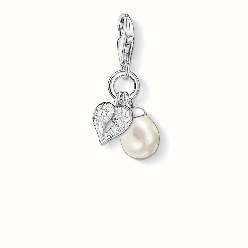 Thomas Sabo Thomas Sabo Charm pendant wing with pearl white 0779-082-14