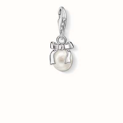 f43821c312450a Thomas Sabo Bow Charm White 925 Sterling Silver/ Freshwater Pearl 0802-082- 14