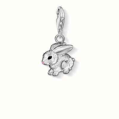 Thomas Sabo Rabbit Charm 925 Sterling Silver Cold Enamel 0819-007-12