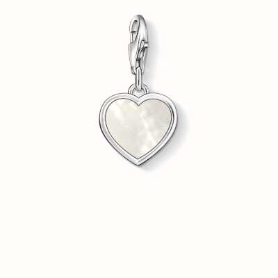 Thomas Sabo Heart Charm White 925 Sterling Silver/ Mother-Of-Pearl 0920-029-14