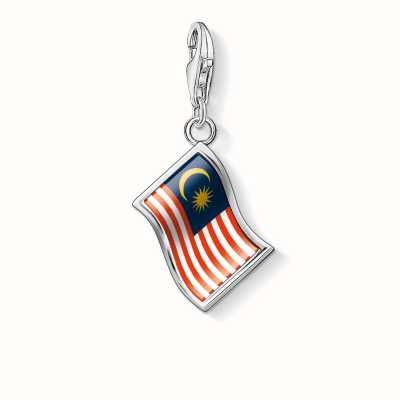 Thomas Sabo Malaysia Flag Charm Multicoloured 925 Sterling Silver/ Cold Enamel 1186-603-7