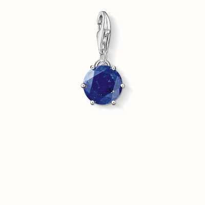 Thomas Sabo September Charm Dark-Blue 925 Sterling Silver/ Lapis Lazuli 1262-592-32