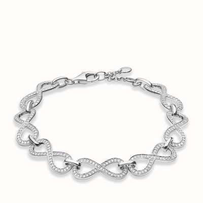 Thomas Sabo Bracelet 16.5/18/19.5cm White 925 Sterling Silver/ Zirconia A1311-051-14
