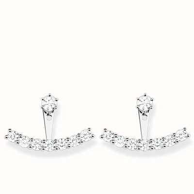 Thomas Sabo Earrings White 925 Sterling Silver/ Zirconia H1904-051-14