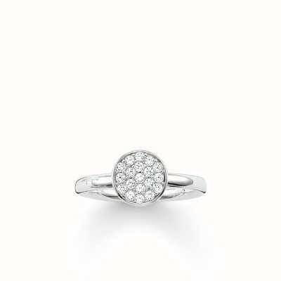 Thomas Sabo Ring White 925 Sterling Silver/ Zirconia TR2050-051-14-50