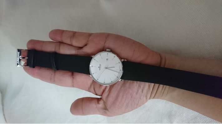 Junghans With A Calfskin Strap Black Batons Form XuZkOPi