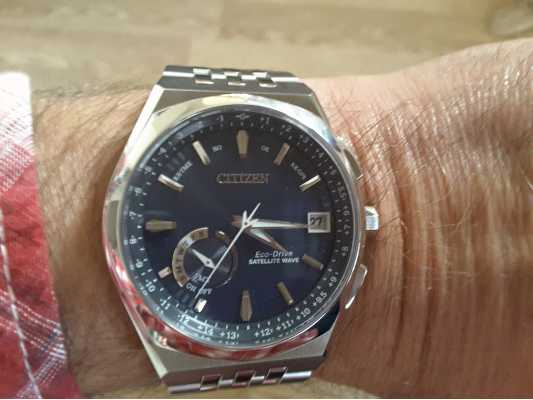 765e32a47fb Customer picture of Citizen Satellite Wave World Time GPS Blue Dial  CC3020-57L